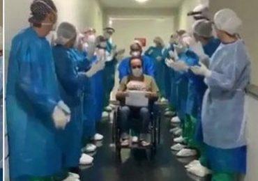 Médicos y enfermeras alaban a Dios mientras despiden a paciente recuperado de Covid-19 (VÍDEO)